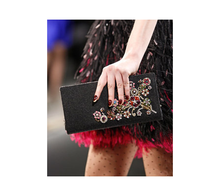 black beaded clutch. Beaded Flannel Clutch in