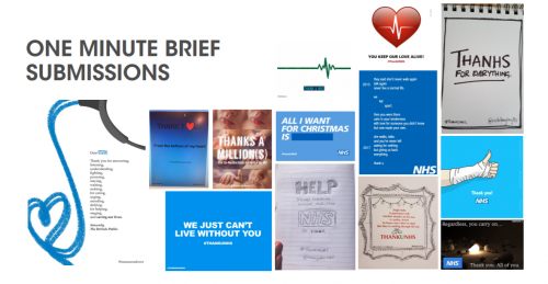 Thank U NHS - One Minute Briefs Submissions