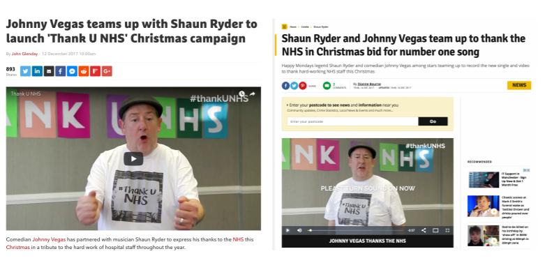 Thank U NHS - PR Coverage