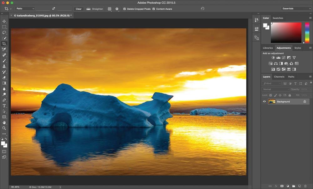 Valmis Photoshop CC:ssä suoristettu kuva.