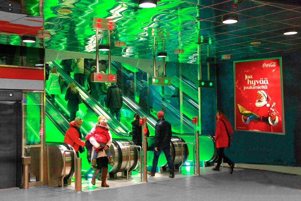 Yliopiston metroasema, Helsinki. Kuva: Väärä Kurkku