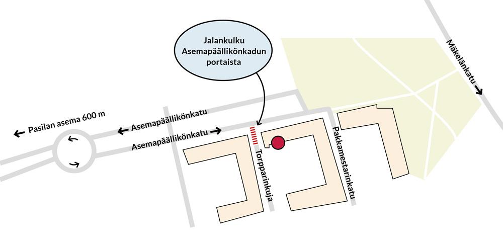 Uuden toimiston kartta, Pasila