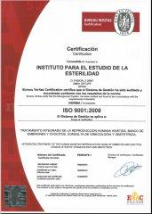 Certificación ISO 9001:2008. - Instituto para el Estudio de la Esterilidad