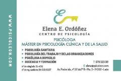 Tarjeta - Centro de Psicología Elena E. Ordóñez