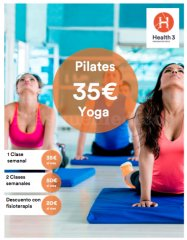 Pilates y yoga desde 20€ al mes