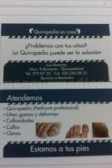 Servicios ofrecidos - Quiropedia en casa