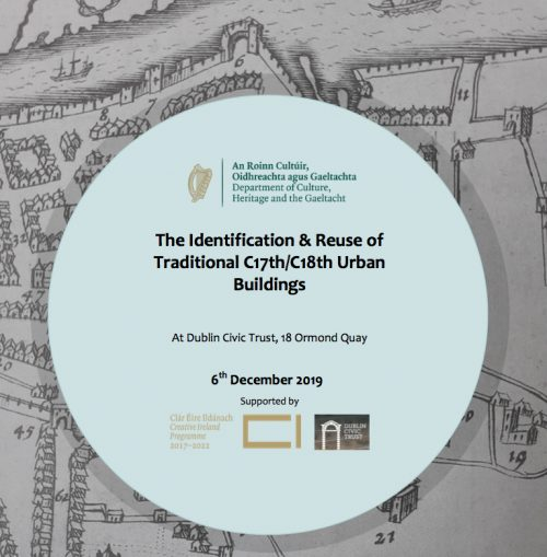 "Niall McCullough and Valerie Mulvin at ""The Identification & Reuse of Traditional C17th/C18th Urban Buildings"" Conference - 6th Dec 2019"