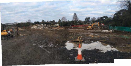 Construction begins at Church Road, Killiney
