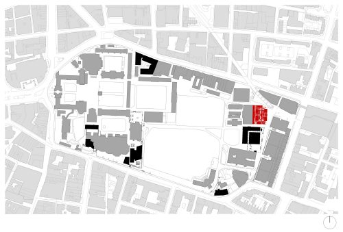 site plan, Trinity College Dublin