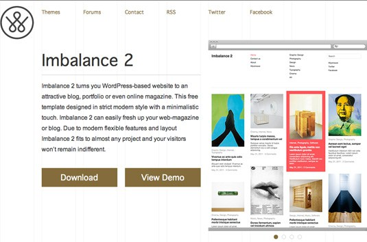 Imbalance 2 turns you wordpress-based website to an attractive blog, portfolio or even online magazine