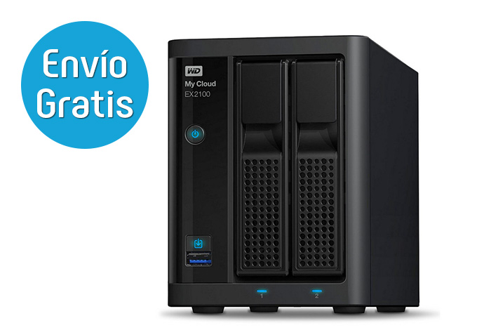 WD My Cloud EX2100 Servidor NAS Mac y PC