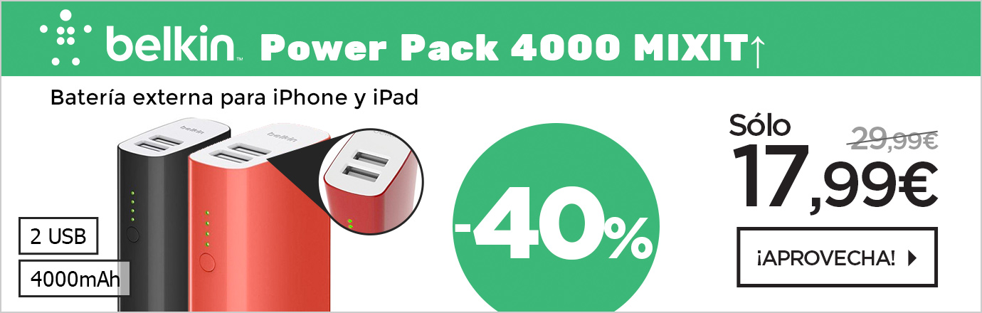 Belkin Power Pack Batería 4000mAh doble USB 2.4A