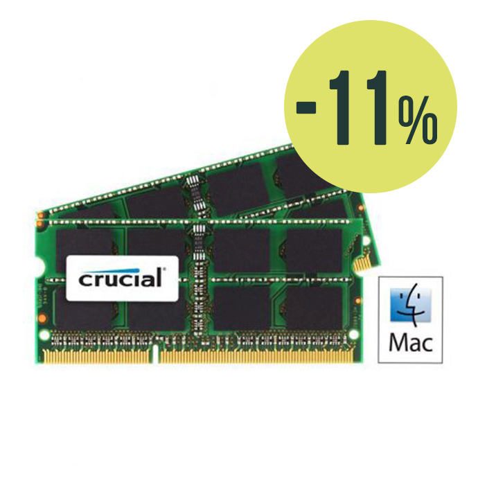 Pack Crucial RAM 8GB (2x4GB) SO-DIMM 1066Mhz