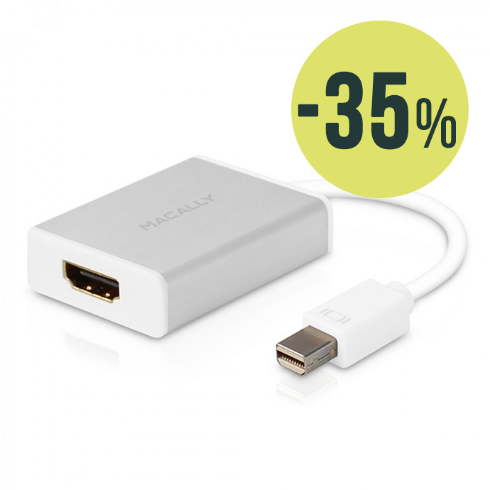 Macally Adaptador Mini DisplayPort a DVI/HDMI/VGA 4K