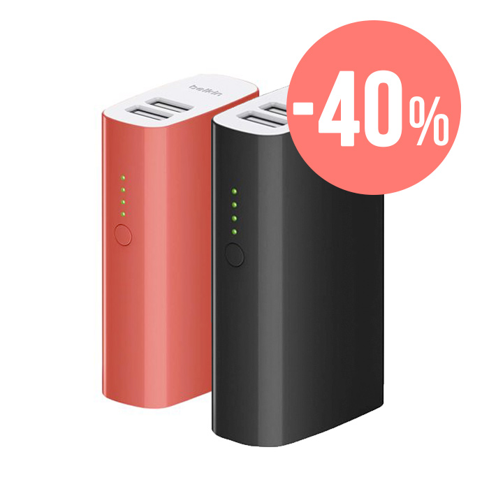 Belkin Mixit Power Pack Batería 4000mAh doble USB 2.4A