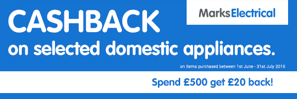 Marks Electrical - �20 Cashback when Spending �500