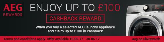 AEG Summer Cashback 16.05-30.06