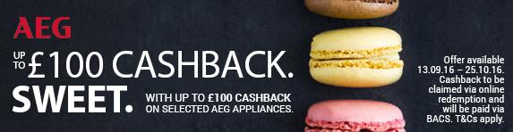 AEG ?100 Cashback 13.09-25.10.2016
