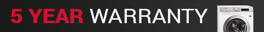 AEG - 5 Year Warranty Banner