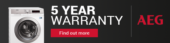 AEG - 5 Year Warranty Banner