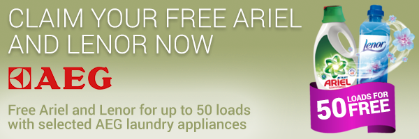AEG - Free Ariel and Lenor for up to 50 loads
