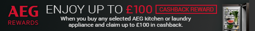 AEG Rewards Late Summer Cashback 18.07.2017-29.08.2017