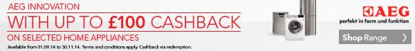 AEG Technology - Up to �100 Cashback
