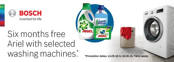 Bosch Free Detergent for 6 months 12.05.2016 to 22.06.2016