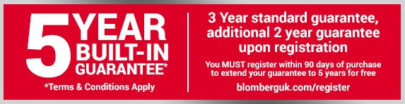 Blomberg 5 Year Warranty