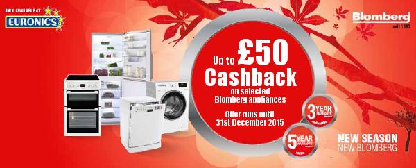 Blomberg ?50 Cashback Promotion - 01.09.2015-31.12.2015