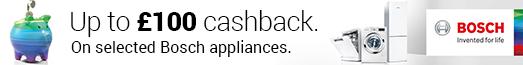 Bosch CIH £100 Cashback 06.09.2017 - 31.10.2017