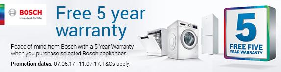 Bosch - 5 year warranty