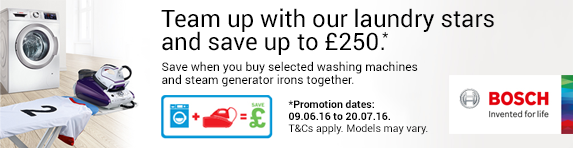 Bosch - Team up with our laundry stars and save up to ?250