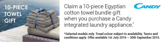 Candy - Free Bundle of Towels - 01.07.2016-30.09.2016