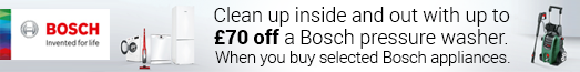 Bosch - Claim Up o £70 off a Bosch Pressure Washer