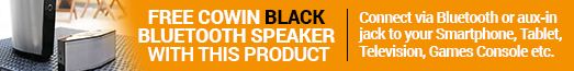 Free Cowin Speaker Black with selected products