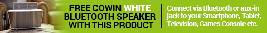 Free Cowin Speaker White with selected products