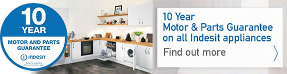 Indesit - 10 Years Parts Guarantee