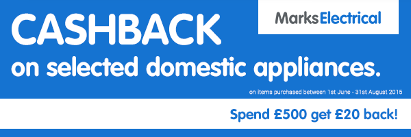 Marks Electrical - ?20 Cashback when Spending ?500