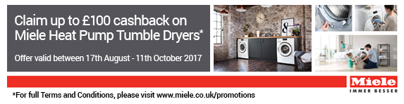 Miele - Tumble Dryer Cashback 06.04-28.06.2017
