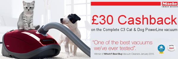 Miele - The complete Cat & Dog Powerline vacuum ?30 cashback promotion