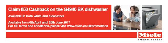 Miele G4940 ?50 Cashback Dishwasher 06.04-28.06.2017