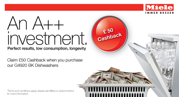Miele - ?50 cashback on G4920 White and Steel