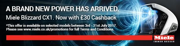 Miele Blizzard CX1 Cashback  ?30.00 03.07-31.07.2017