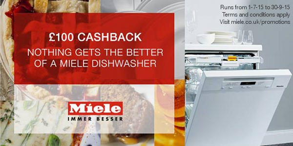 Miele - ?100 Cashback on Freestanding G6000 Dishwashers 01.07-30.09
