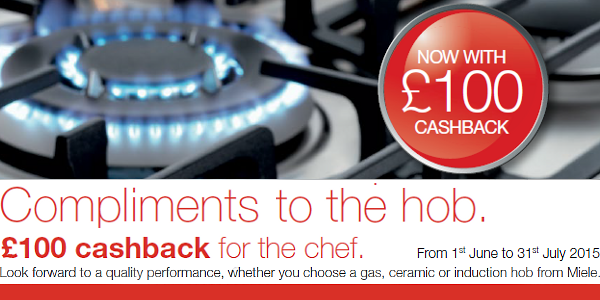 Miele - ?100 Cashback on selected Gas, Ceramic and Induction Hobs