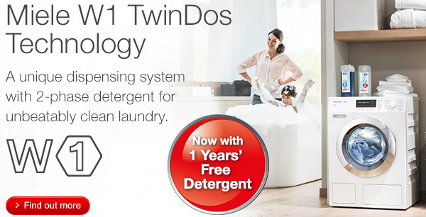 Miele - One Year's Free Detergent - Twin Dos 01.09-29.02.2016