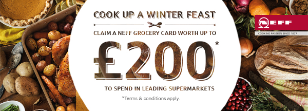 Neff - Up to ?200 Grocery Card Promotion 29.10-09.12