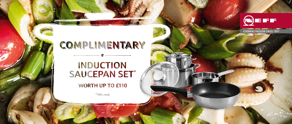 Neff - Free Induction Pan Set on selected Induction Hobs 01.01.2016-31.03.2017