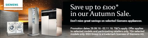 Siemens Autumn Sale 29.09.2016 to 02.11.2016